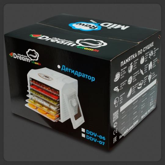 Купить дегидратор Dream Vitamin DDV-06 - доступная электросушилка от RawMID